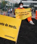 Manifestation de GreenPeace contre le projet de Belo Monte. © Agencia Brasil