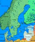 Carte de la Mer Baltique