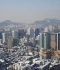 Vue nord de Séoul, Corée du Sud