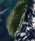 Photo satellite de Taiwan, Asie (Nasa)