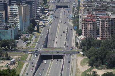 Axe routier à Almaty