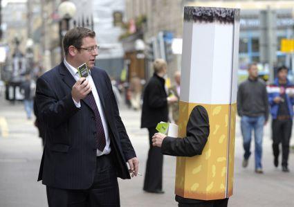 Campagne anti-mégots à Édimbourg.