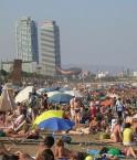 Plage de Barceloneta en été