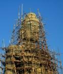 Construction d'un 'Buddha' en Inde