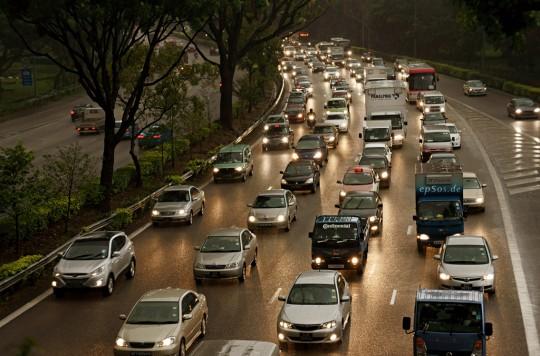 Embouteillage à Singapour