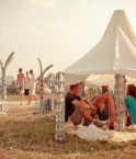 Extérieur de la tente