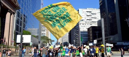 Manifestation contre Ricardo Teixeira à Sao Paulo