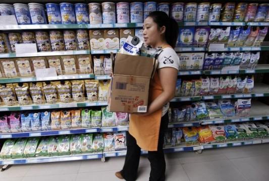 Scandale du lait contaminé en Chine en 2008.