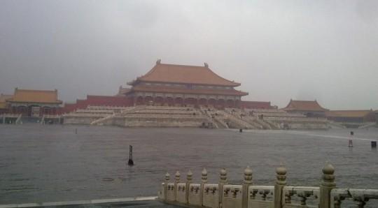 La Cité Interdite envahie par les eaux!