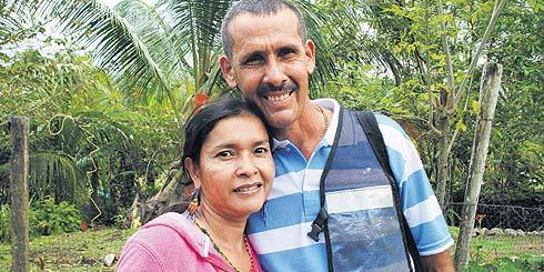 César Julio Echeverry et sa femme Norelia.