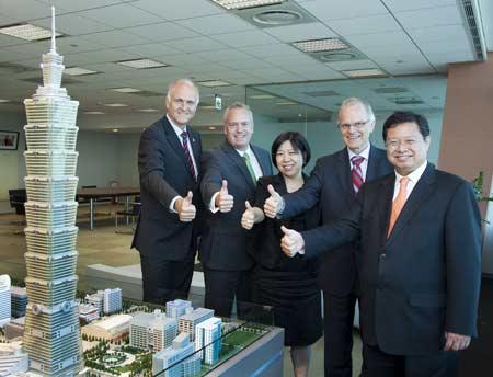 Taipei 101 et Siemens heureux de la certification LEED.