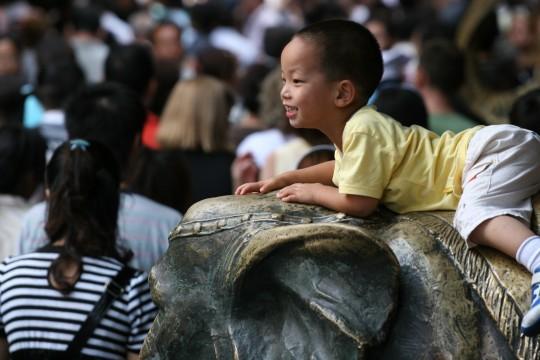 Enfant à Shanghaï.