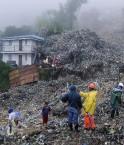 Baguio sous les déchets. © www.news.cn