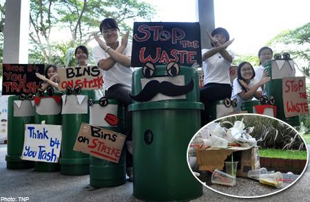 Grève des poubelles.