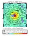 Carte sismique du tremblement du terre à Van, en Turquie Orientale le 23 octobre 2011.ake in eastern Turkey