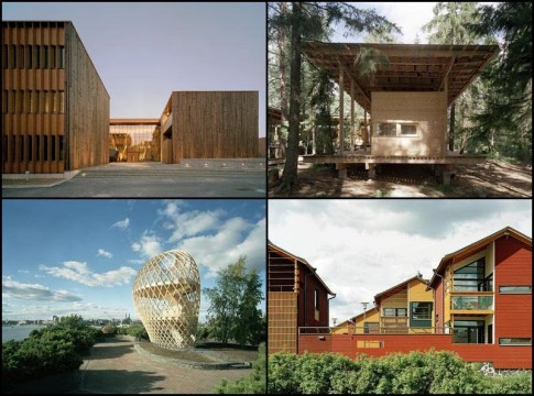 Projets d'architecture bois en Finlande.