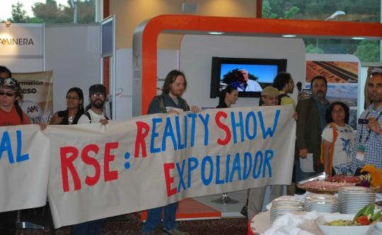 Manifestation RSE au Chili.