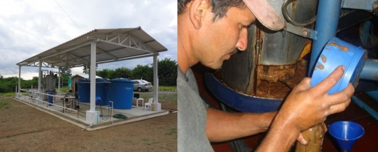 Usine de biocarburant de café
