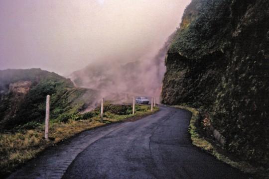 La route de la Soufrière en 1976.