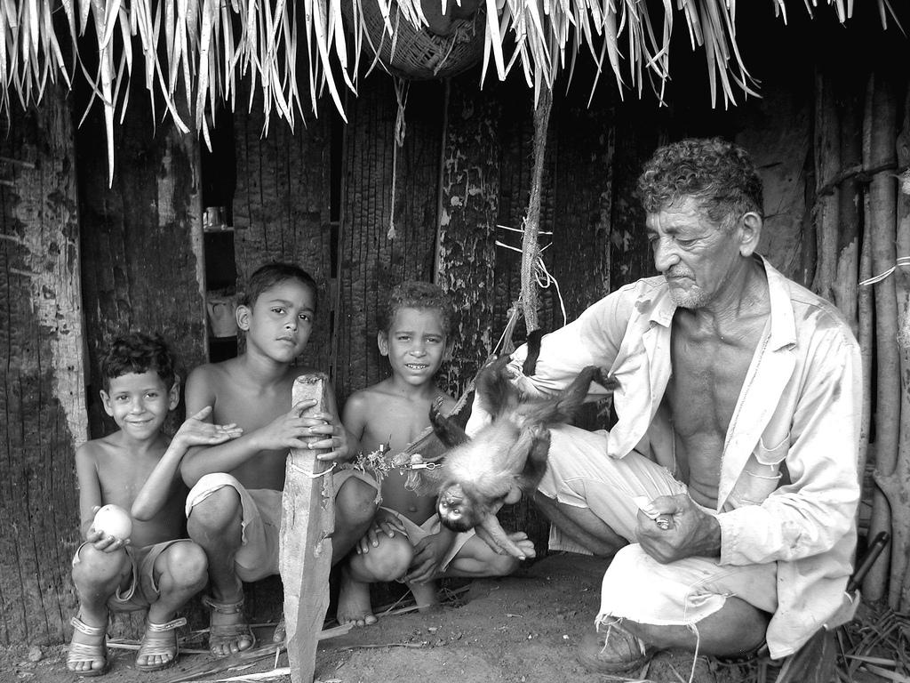 Scène de vie en Amazonie.