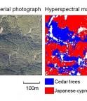 Carte hyperspectrale d'une forêt. © Fujitsu