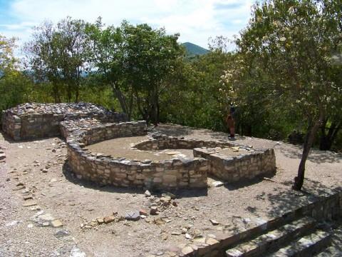 Ruines au Mexique.