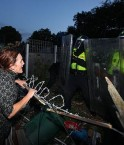 Eviction de Dale Farm. © The Daily Mirror