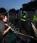Eviction de Dale Farm. © The Daily Mirror