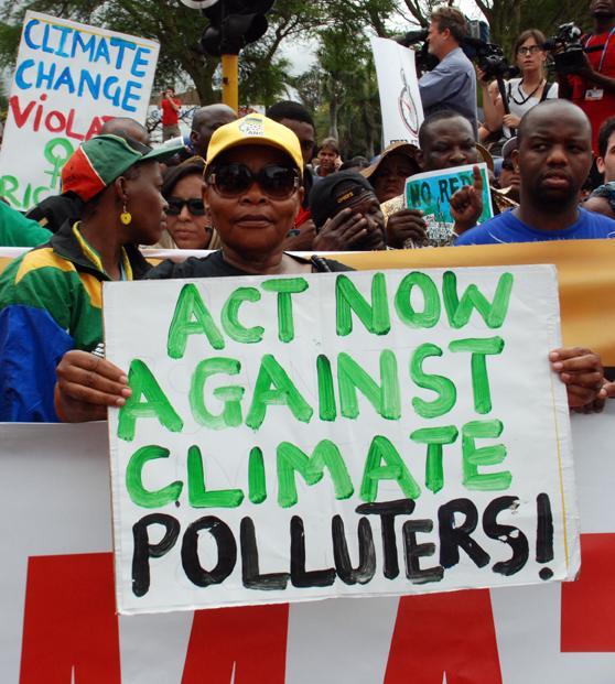Manifestation à Durban.