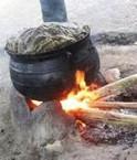 Feu de bambou. © INBAR