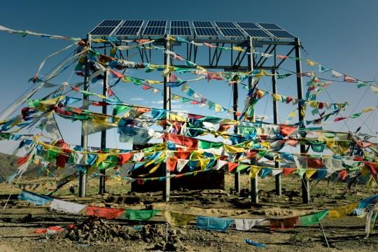 Energie solaire au Tibet.