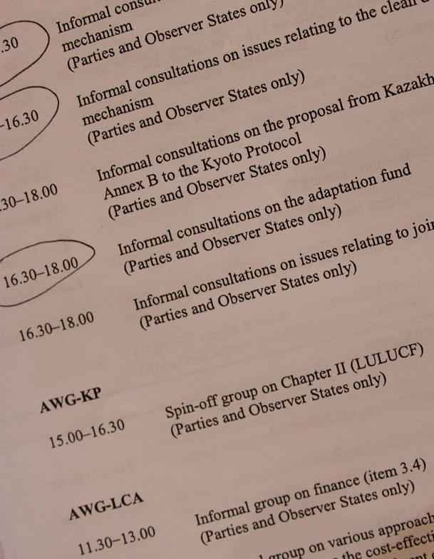 Programme COP17