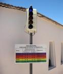 Le solmaforo indique aux passants les niveaux de radiation UV. ©Osmar Valdebenito (Flickr)