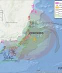 Cartographie d'un scénario catastrophe d'une fuite pré-sel sur le littoral bésilien