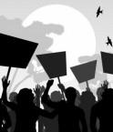 protestation contre le gaz de schiste