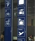 Train, vélo, avion, tramway sont accessibles à la gare multimodale de Bâle en Suisse ©M Bonnet