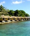 Bungalows sur l'île d'Iririki (Vanuatu)