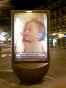 Campagne anti-bruits 2008 à Madrid