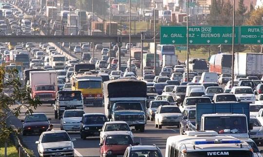 Embouteillage en Argentine.