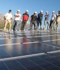 Panneaux solaires à Combarbala.