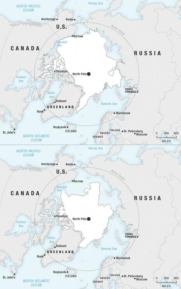 Arctique 1980-2010.