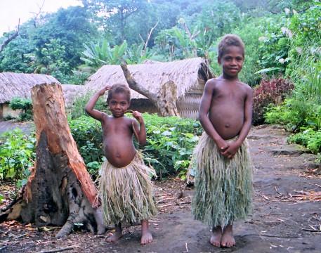 Enfants de l'île de Tanna.