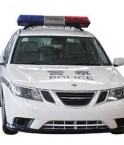 Voiture de police électrique.