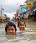 Bangkok inondée. © Sukree Sukplang (Reuters)