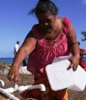 Rationnement à Tuvalu. © AP