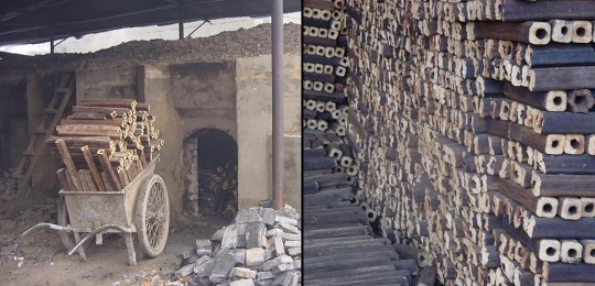 Four à charbon de bambou