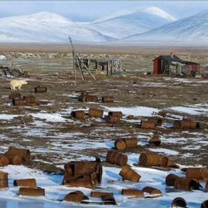 Pollution dans la toundra russe.